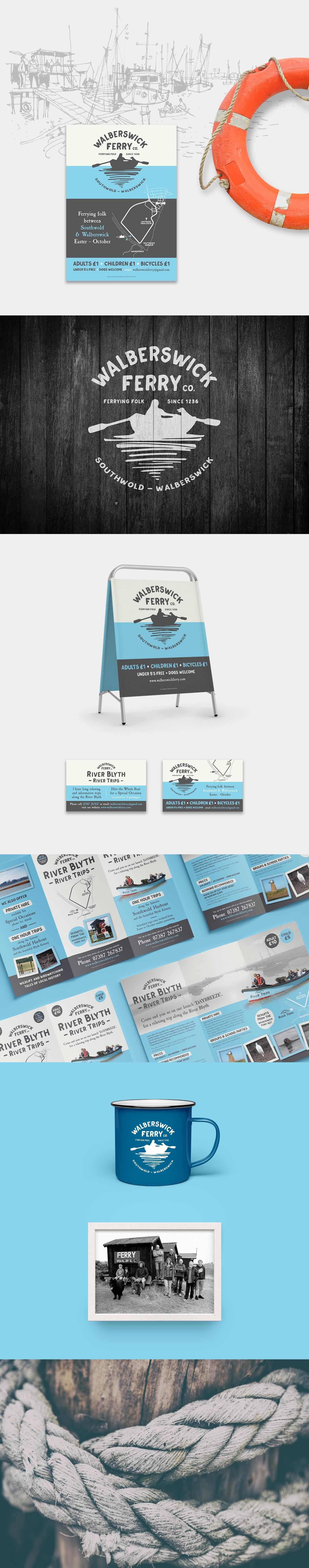 Walberswick Ferry Co Branding and Brochure